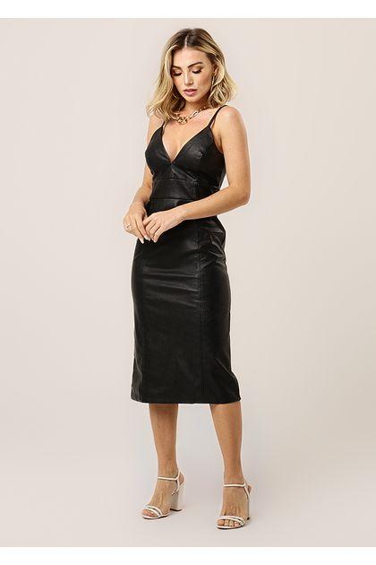 Vestido-Curto-Couro-Skin