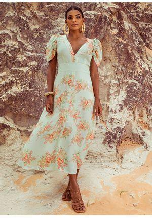 Vestido-Midi-Floral