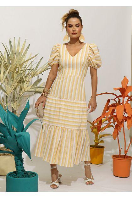 Vestido-Listrado-Costas-Nua