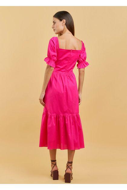 Vestido-Transpassado-Liso-Tricoline