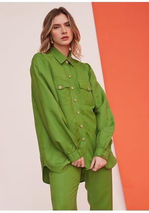 Camisa-Simple-Line-Verde-Frente-