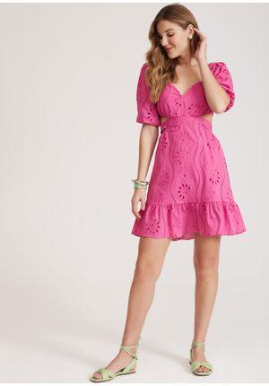 Vestido-Curto-Allerona-Rosa-Frente