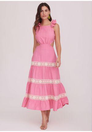 Vestido-Midi-Positano-Rosa