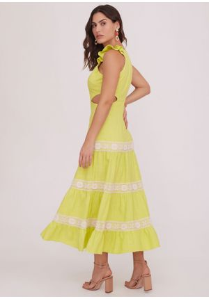 Vestido-Midi-Positano-Verde-Costas